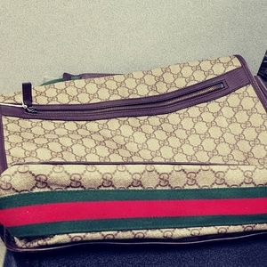 Authentic Gucci Large Cross Body Tote Bag